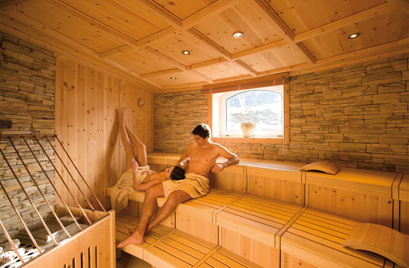 Hautpflegende Bio-Sauna im Hotel Via Salina