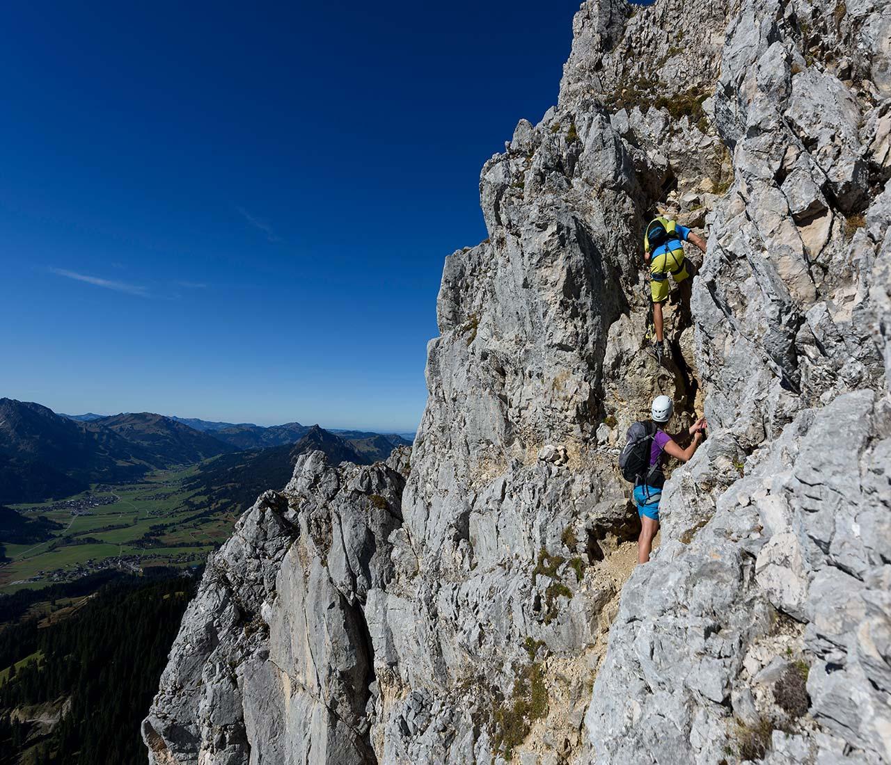 Bergsteigen und Klettern im Tannheimer Tal