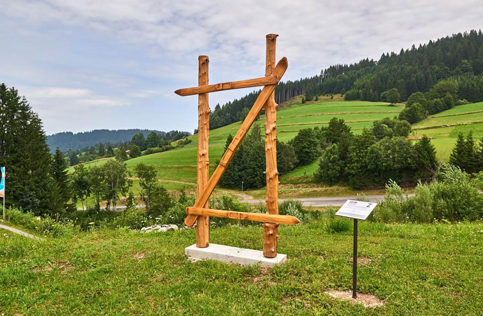 Der Buchstaben weg in Tirol