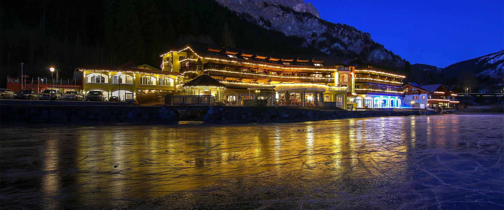 Eislaufen / Schlittschuhlaufen am Haldensee in Tirol