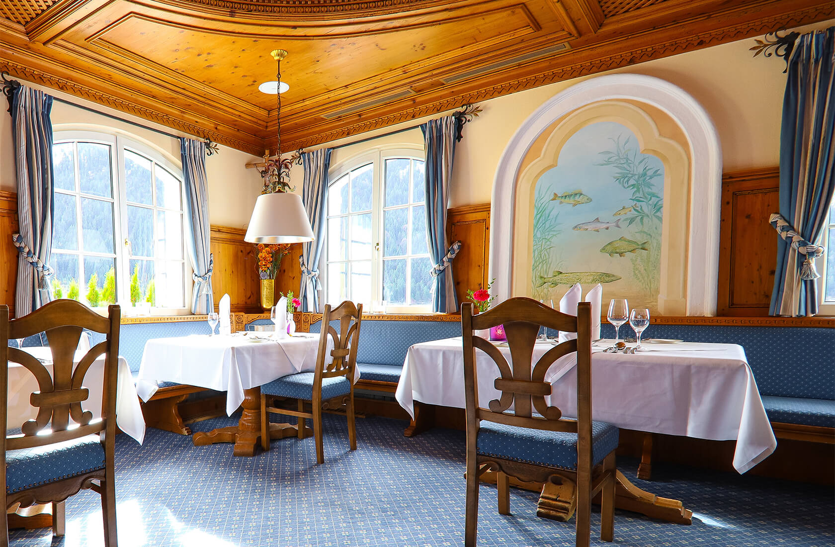 Hotel Via Salina Restaurant Fischerstube im Tannheimer Tal