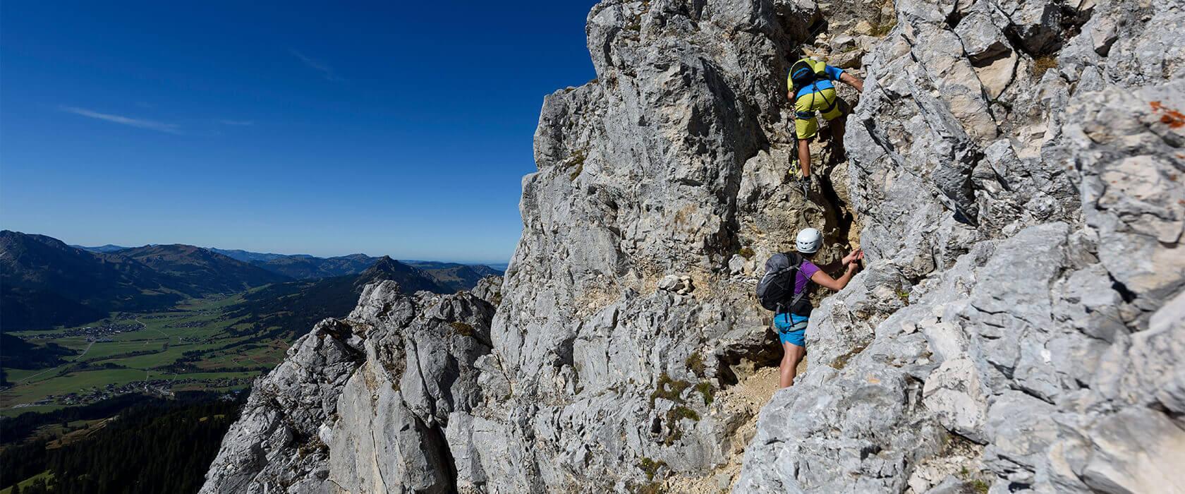 Kletter- & Bergsteigurlaub im Tannheimer Tal in Tirol