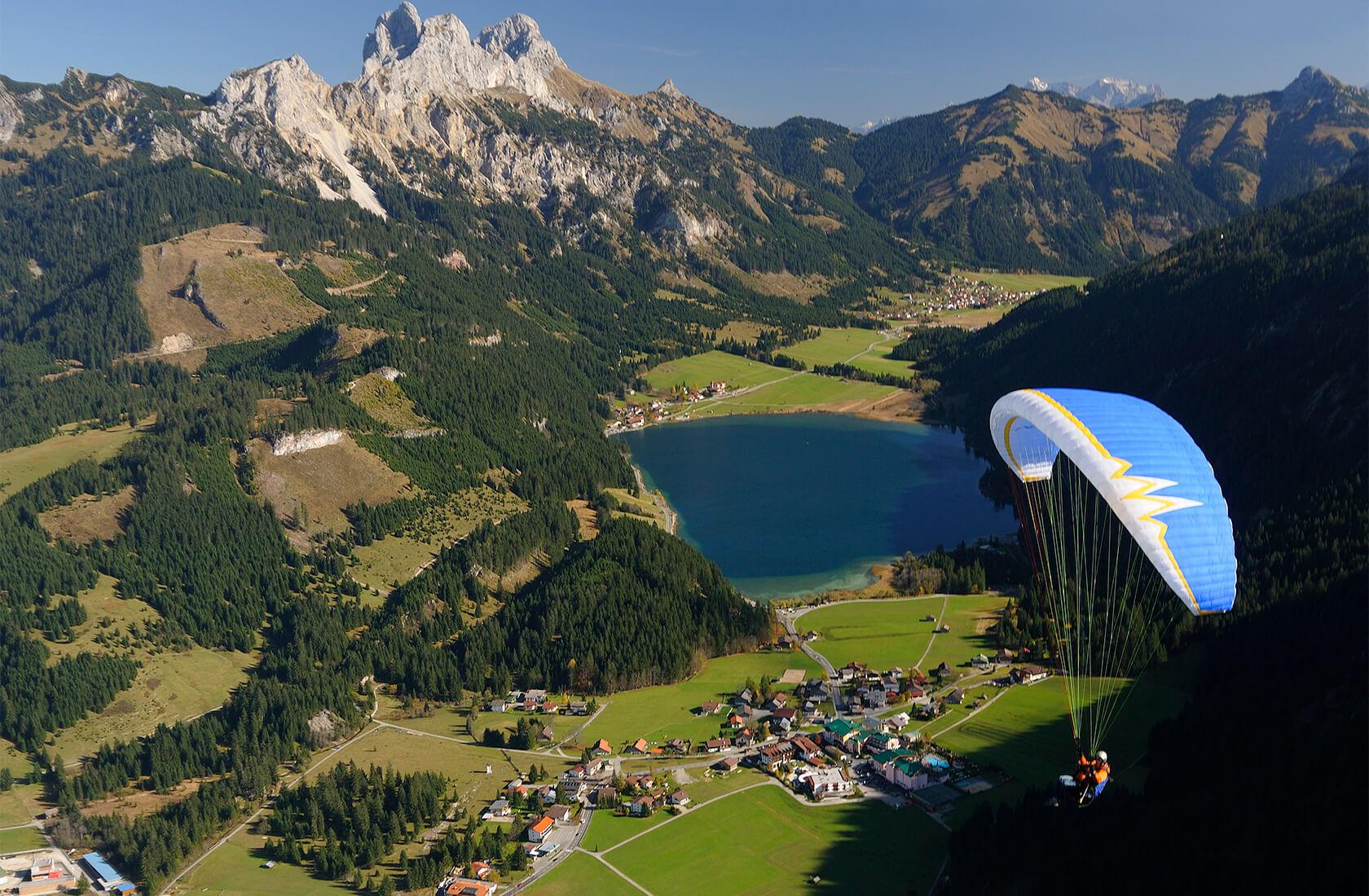 Paragliden im Urlaub am Haldensee im Tannheimer Tal