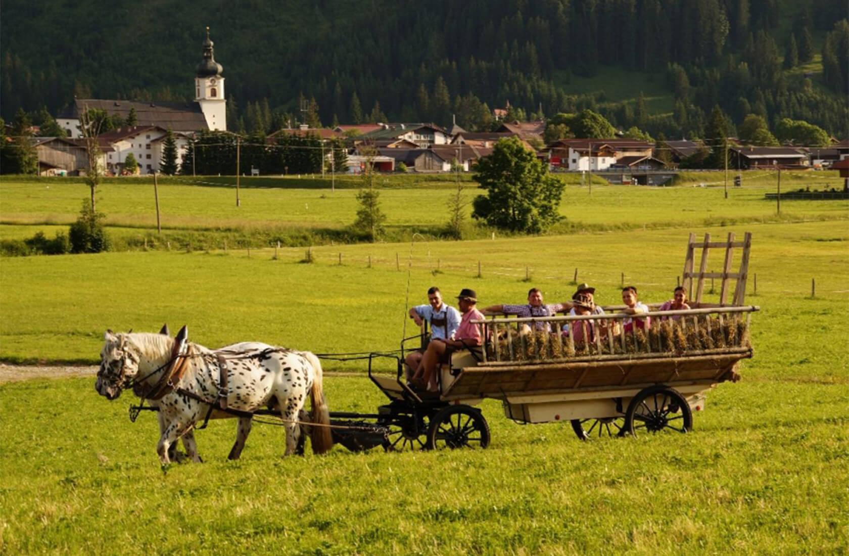 Pferdekutschenfahrt im Tannheimer Tal