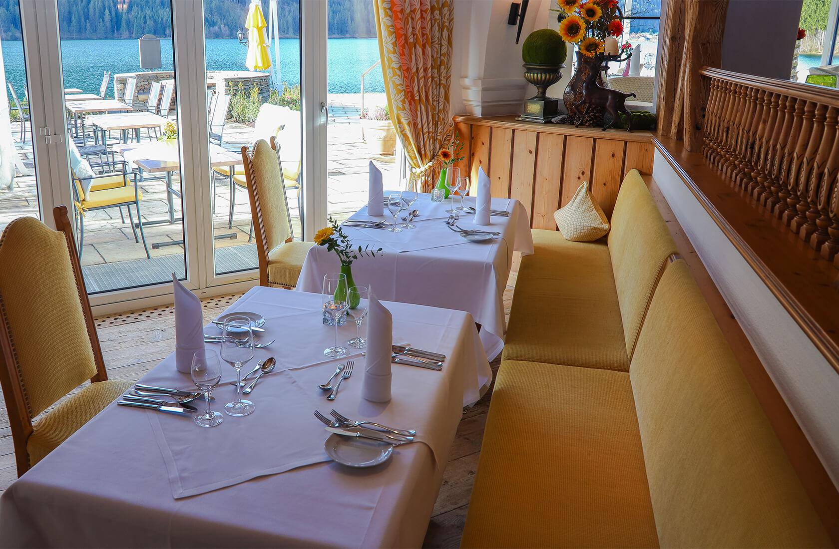 Haldensee Restaurant mit Aussenbereich