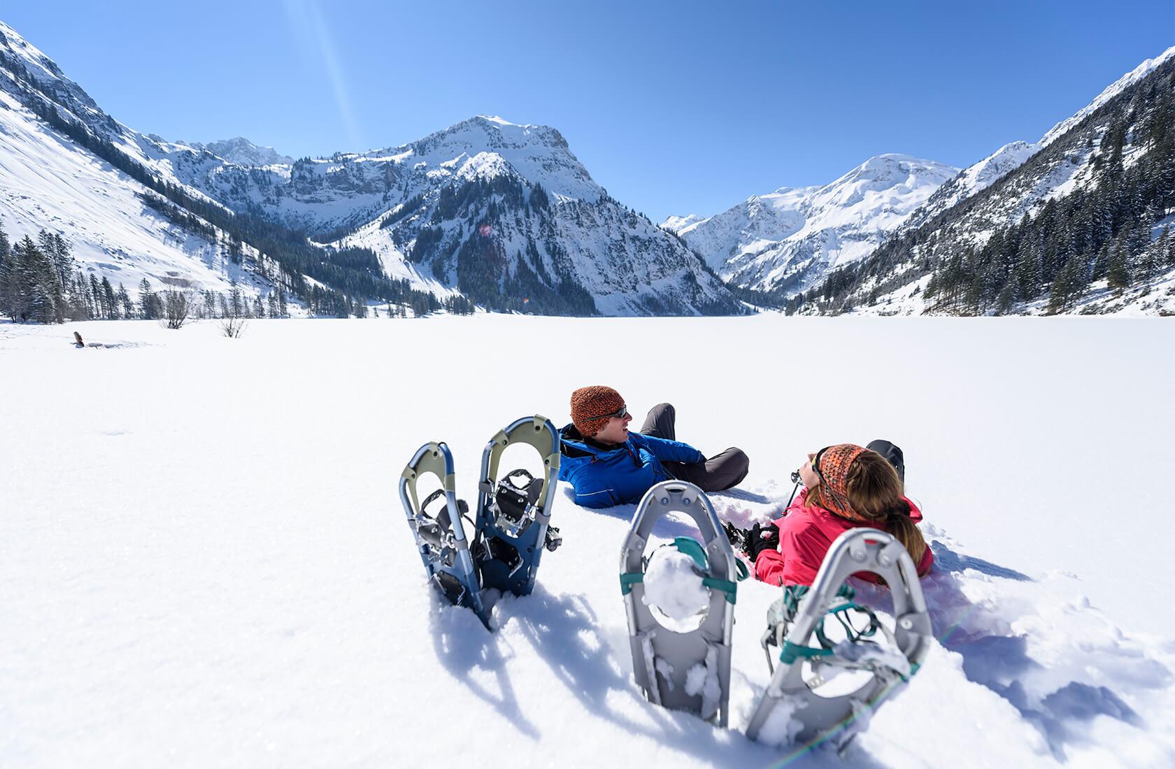 Winter- / Schneeschuhwanderungen im Winterwanderurlaub am Haldensee im Tannheimer Tal