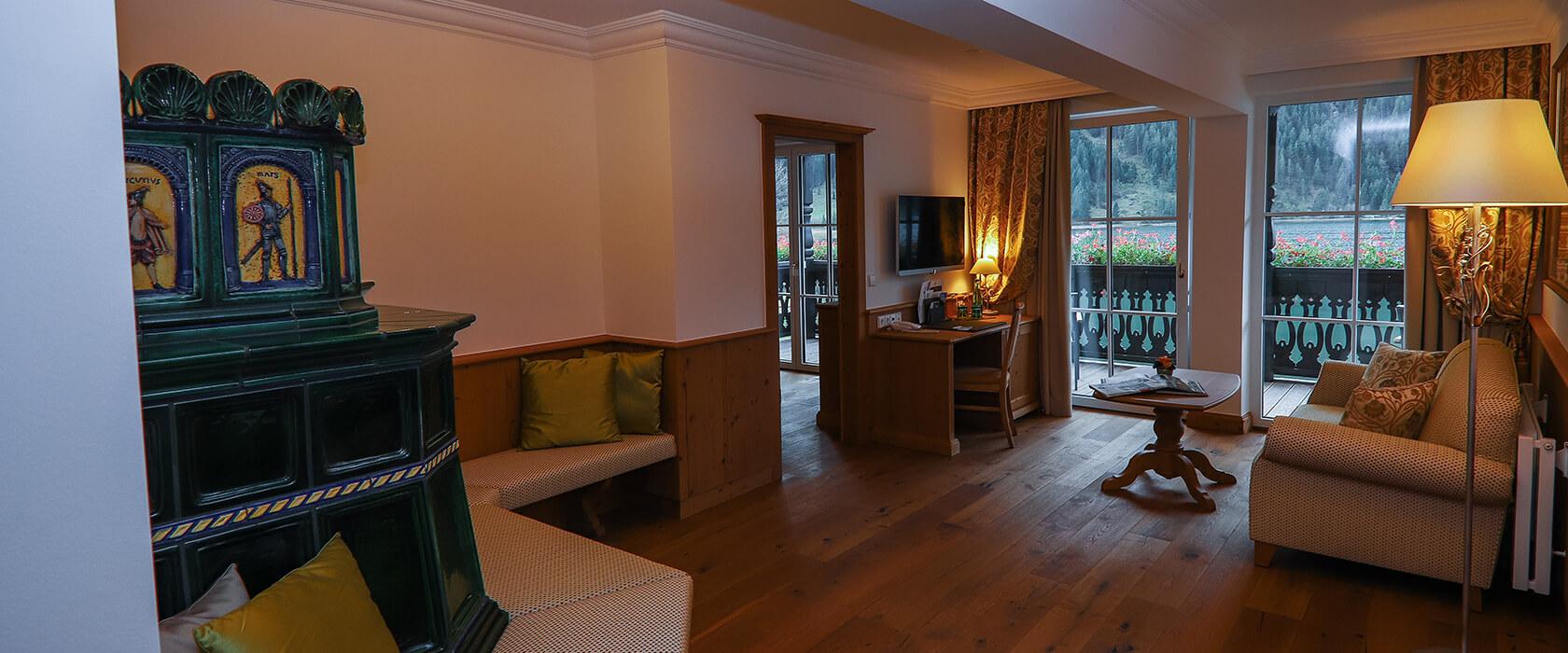 Berg- und Seepanorama in der Suite Aurora - Hotel Via Salina