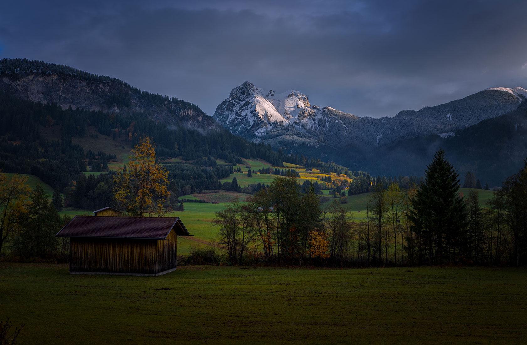 Die Landschaft des Tannheimer Tals in Tirol