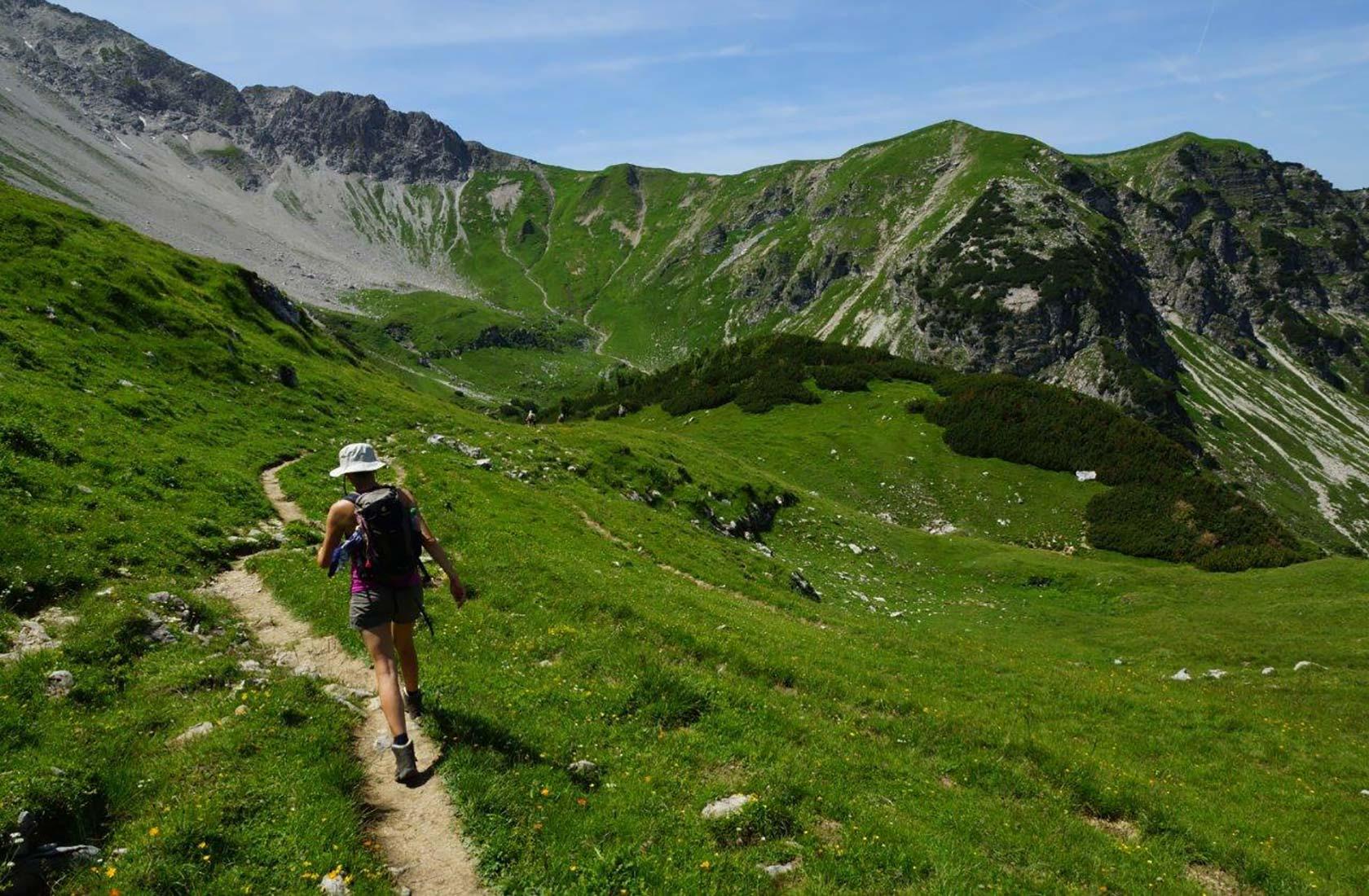 Wandern in den Bergen des Tannheimer Tals