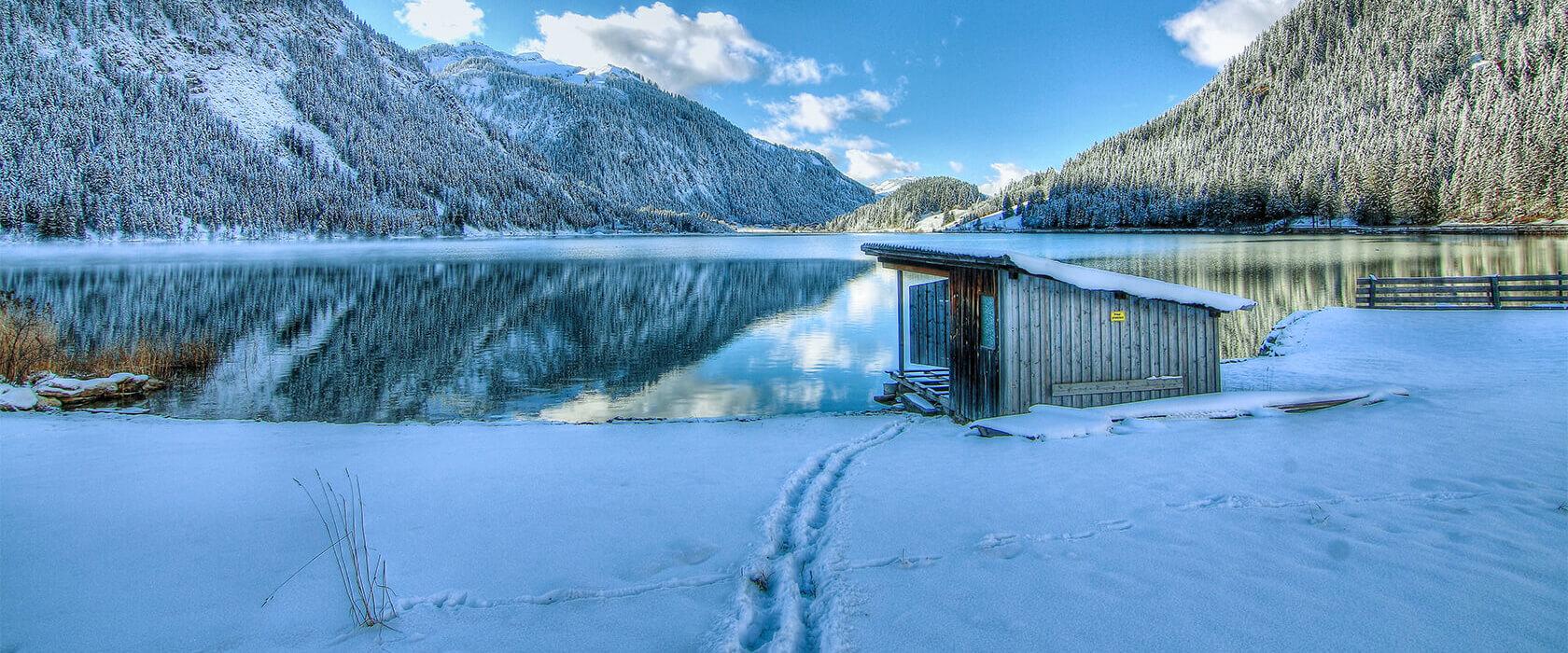Schneeschuhwanderungen im Winterwanderurlaub am Haldensee im Tannheimer Tal
