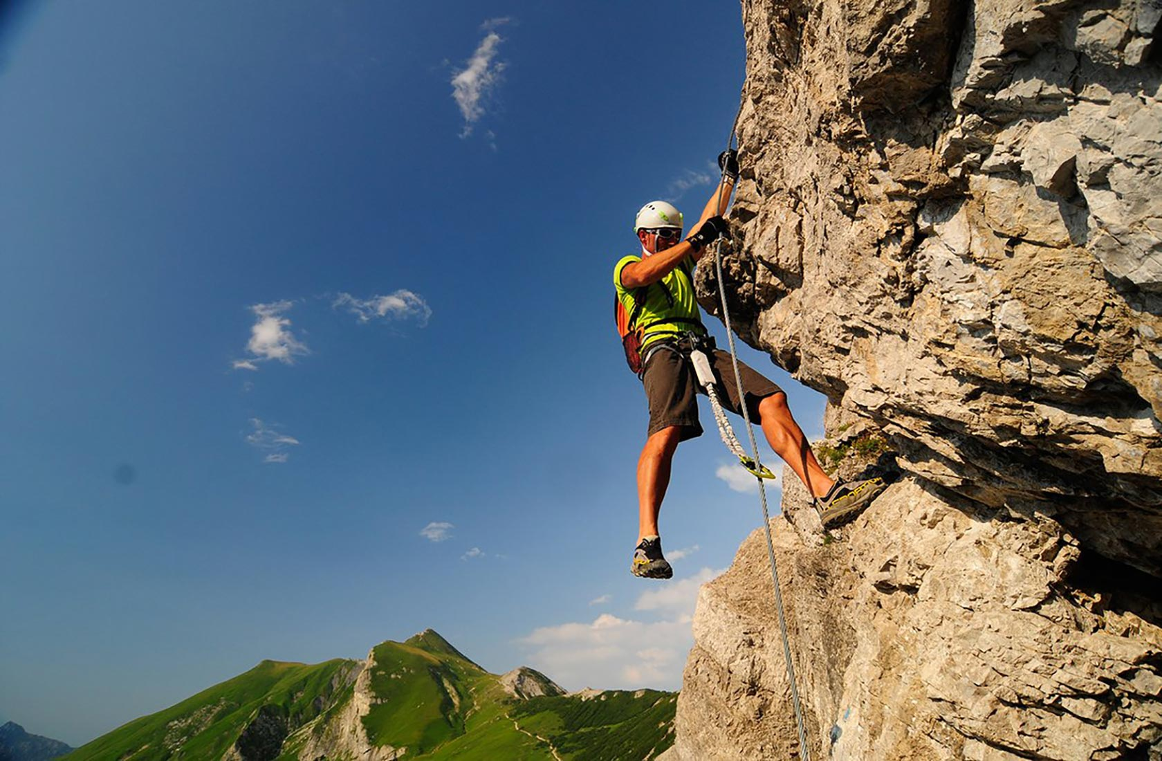 Klettersteige in den Bergen des Tannheimer Tals