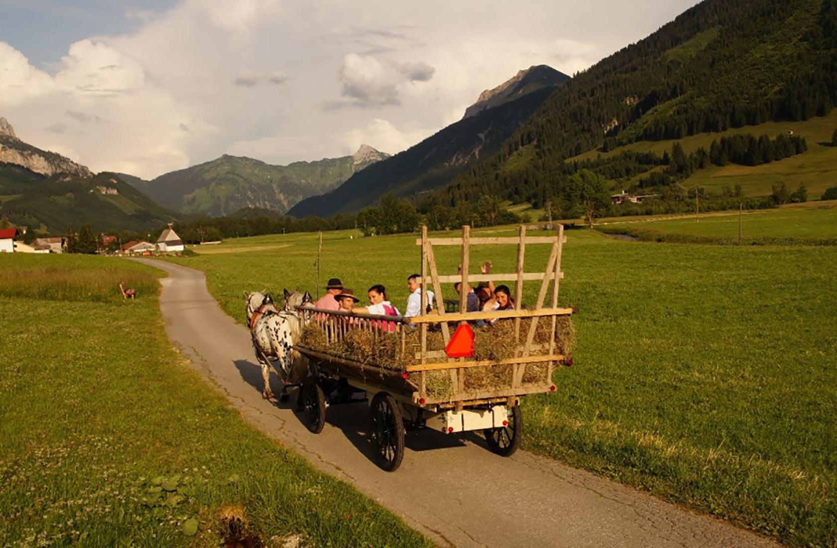 Heuwagenfahrten im Tannheimer Tal