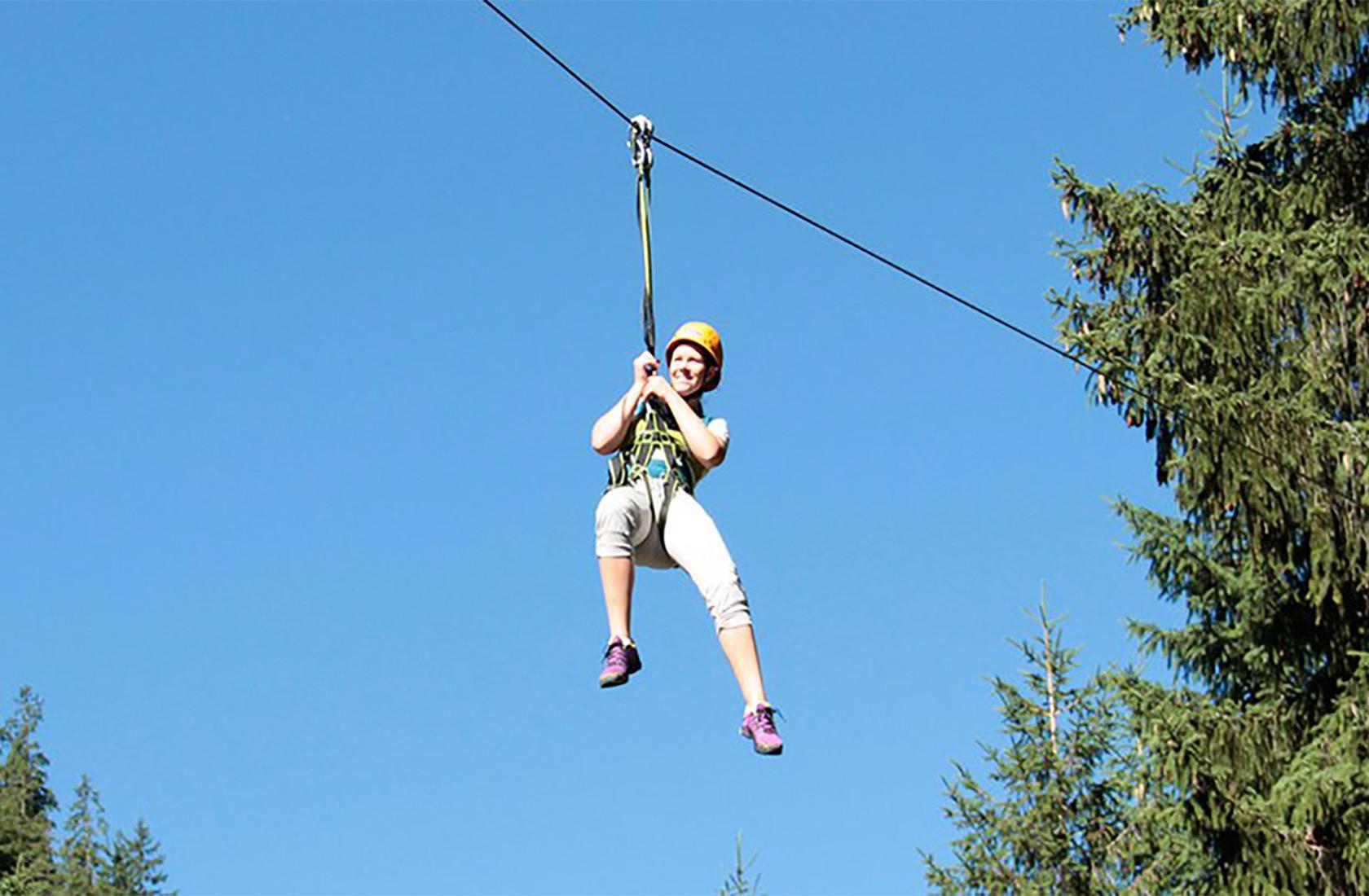 Erlebniswald zum klettern im Urlaub im-Tannheimer Tal