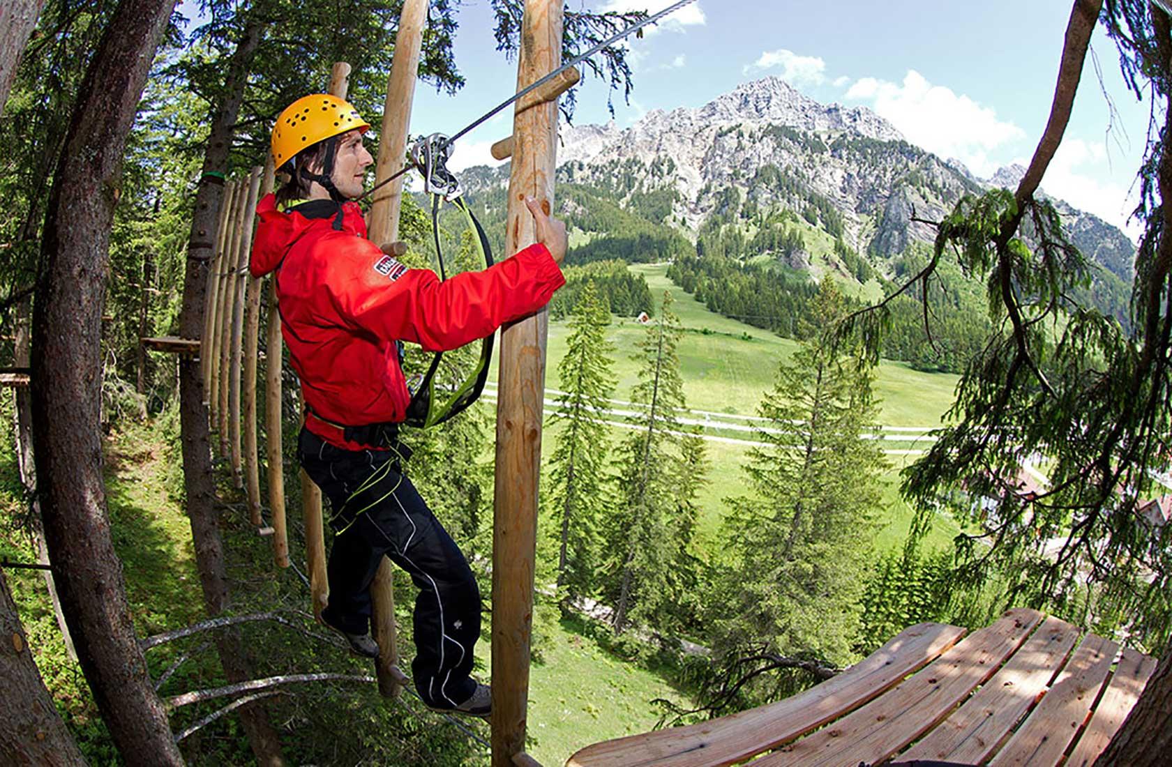 Ausflüge im Urlaub in den Kletterwald im Tannheimer Tal