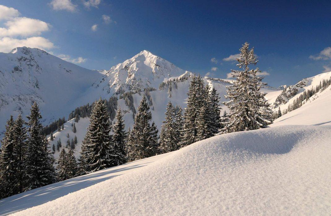 Winter wadner im Urlaub in Tirol mit Schneelandschaft